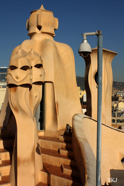 Curvy magical shapes fill a rooftop of the Pedrera in Barcelona. Photo by Shara Johnson