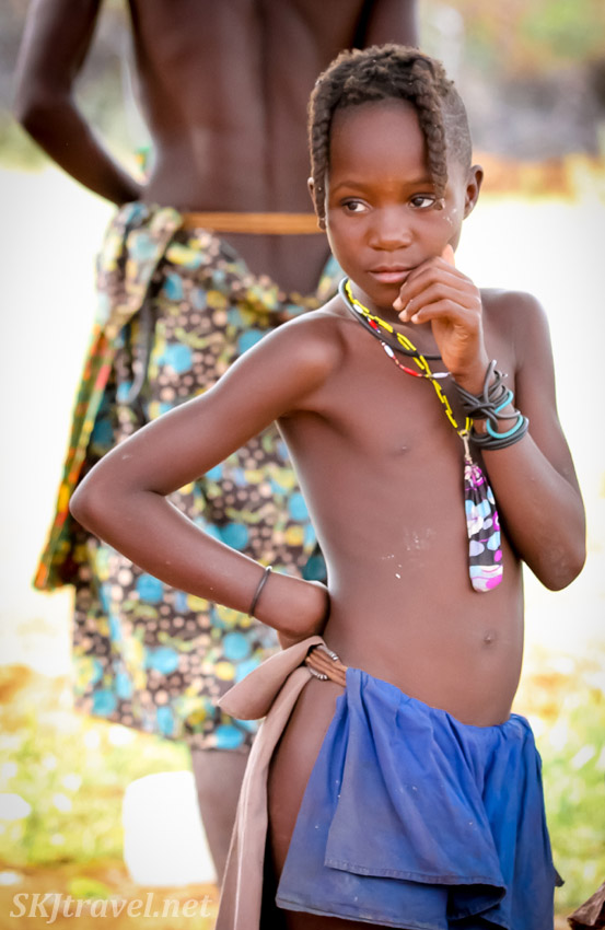 Himba adolescent girl, northern Namibia, near Epupa Falls.