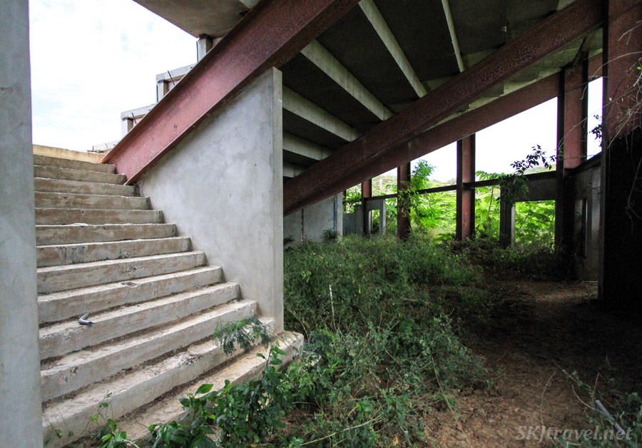 Underneath the abandoned grandstands at Vieques Island, Puerto Rico.
