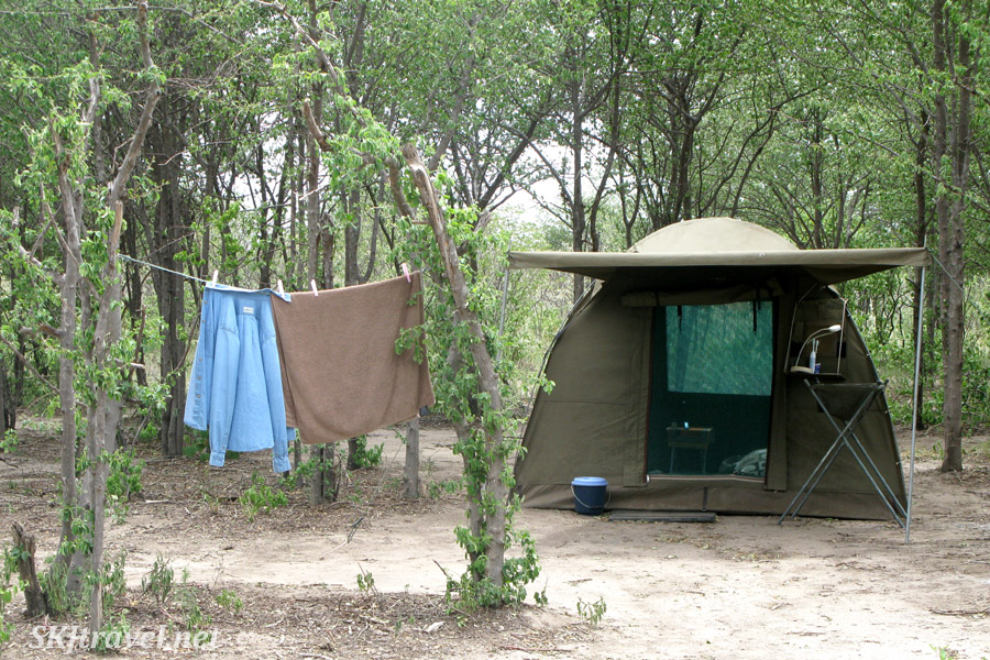 Campsite obtained by Ulinda Safari Trails in the Nxai Pan, Botswana.