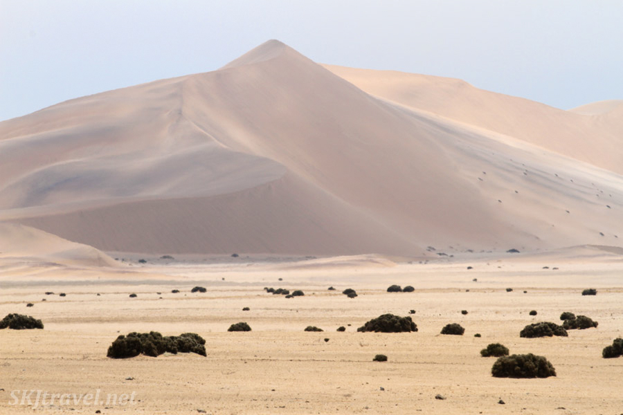 Sand dunes of the Namib Desert near Swapkopmund, Namibia.