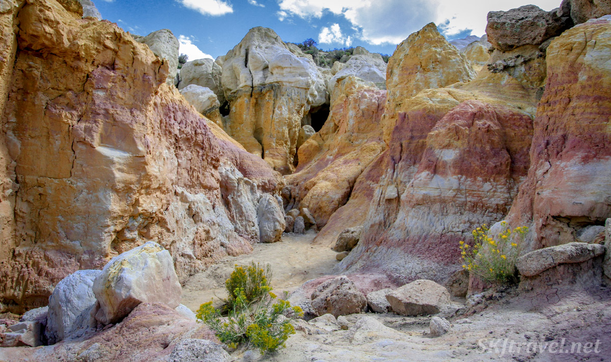 Fantastical geology in form and color, Painted Mines Interpretive Park, Calhan, Colorado.