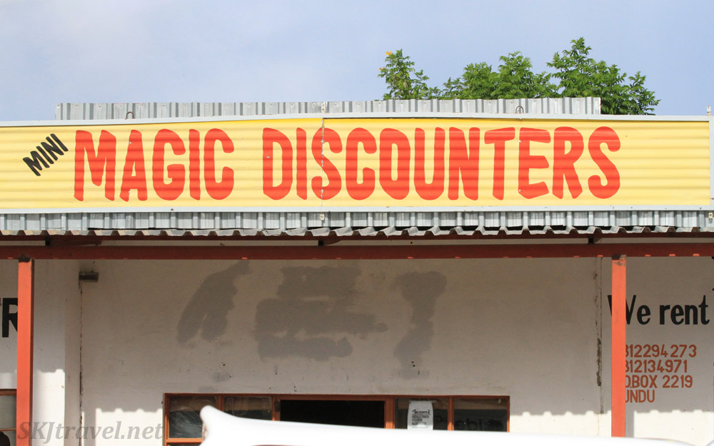 Magic Discounters store in northern Namibia.