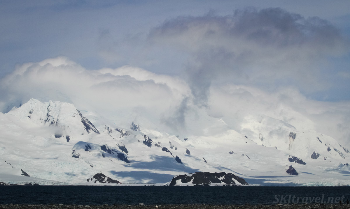 Typical seaside landscape along the Antarctic Peninsula.