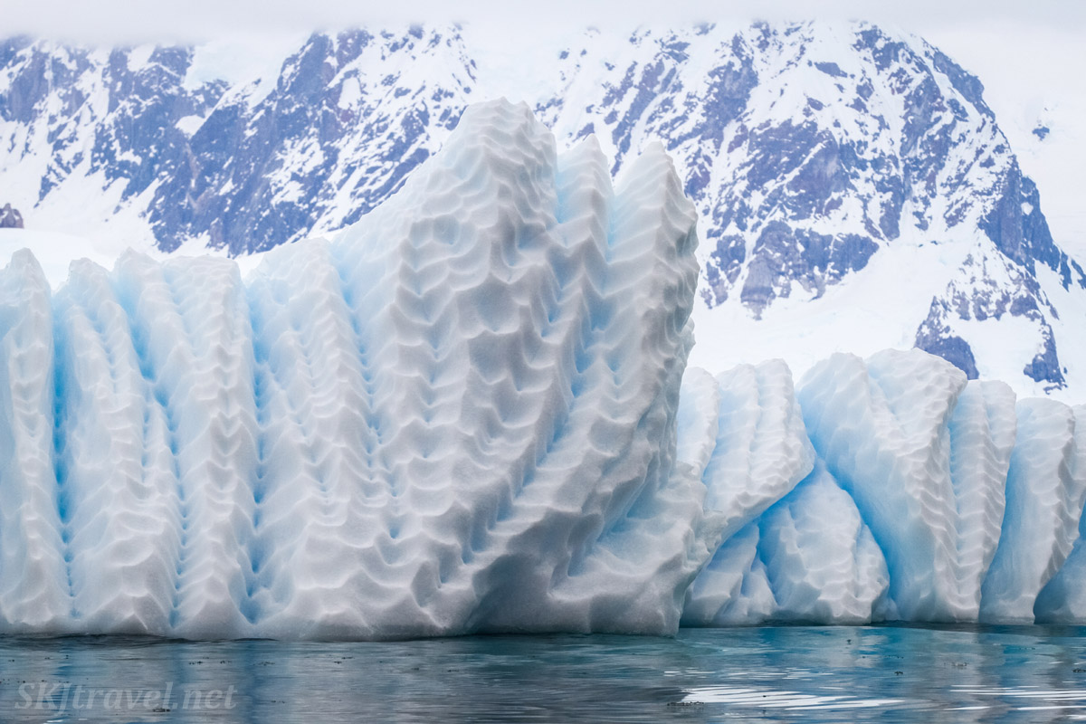 Icebergs in Wilhelmina Bay, Antarctica.