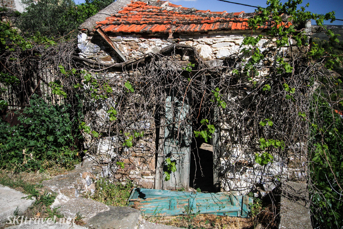 Abandoned house in Volissos, Chios Island, Greece.