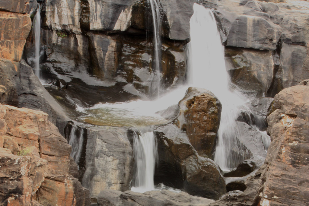 Cascades at Bourke's Luck Potholes, South Africa.