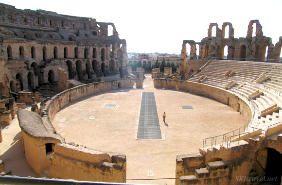 Ancient Roman amphitheater at El Djem, Tunisia.