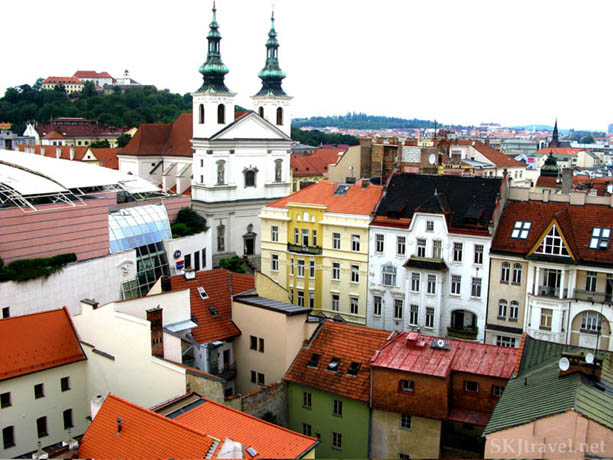 Overlooking city of Brno, Czech Republic.