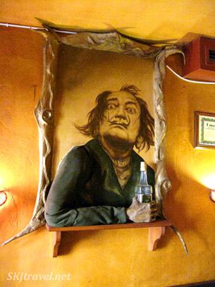 Salvador Dali presides over my fall into surreal nausea.