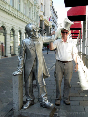 Why here, sir, let me loan you my tophat! Bratislava Slovakia.