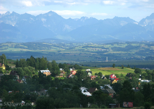 View of the High Tatras from a highway in Slovakia.