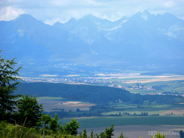 View of High Tatras from Slovensky Raj national park, Slovakia.