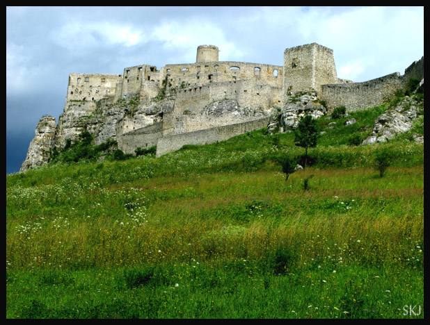 Looking up at Spis Castle as we walk to it from the tiny parking lot. Slovakia