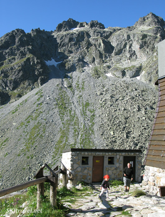 The outhouse at a chata in the High Tatras Mountains in Slovakia.
