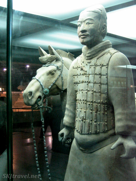Inside the museum at the Qin Terra Cotta Warriors exhibit outside Xian, China.