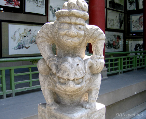 Stone ogre in the Shaanxi Province Museum, Xian, China.