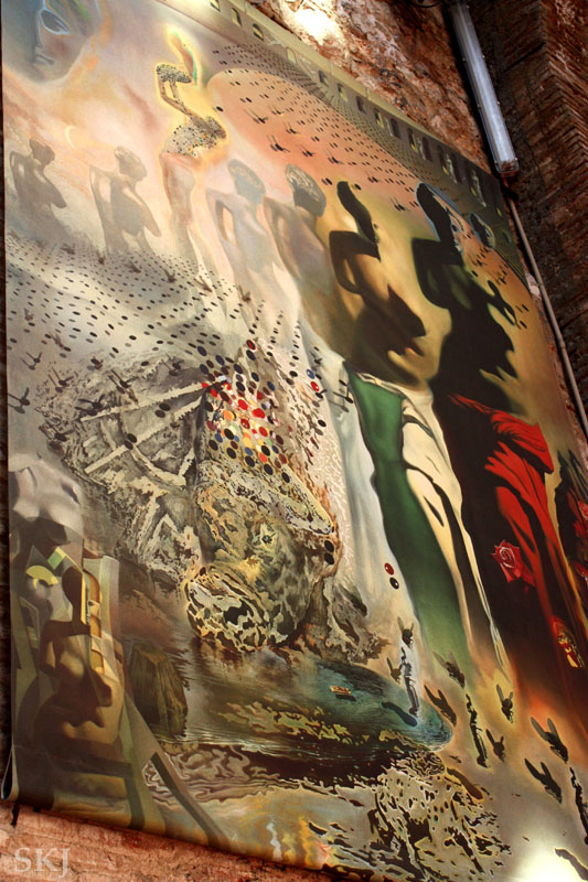 Large Dali painting in Figueres. photo by Shara Johnson