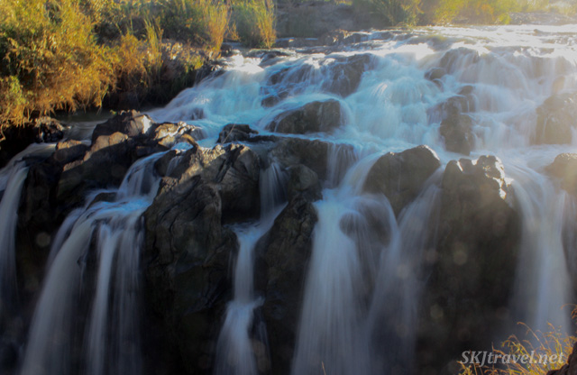 Upper Epupa Falls as sunrise. Namibia.