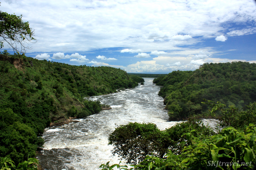 The Nile River exiting Murchison Falls, Uganda.