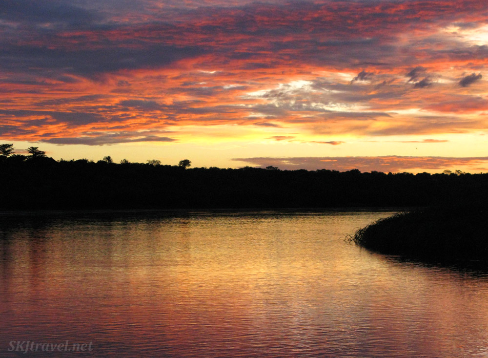 The Nile River at sunrise, Murchison Falls national park, Uganda.