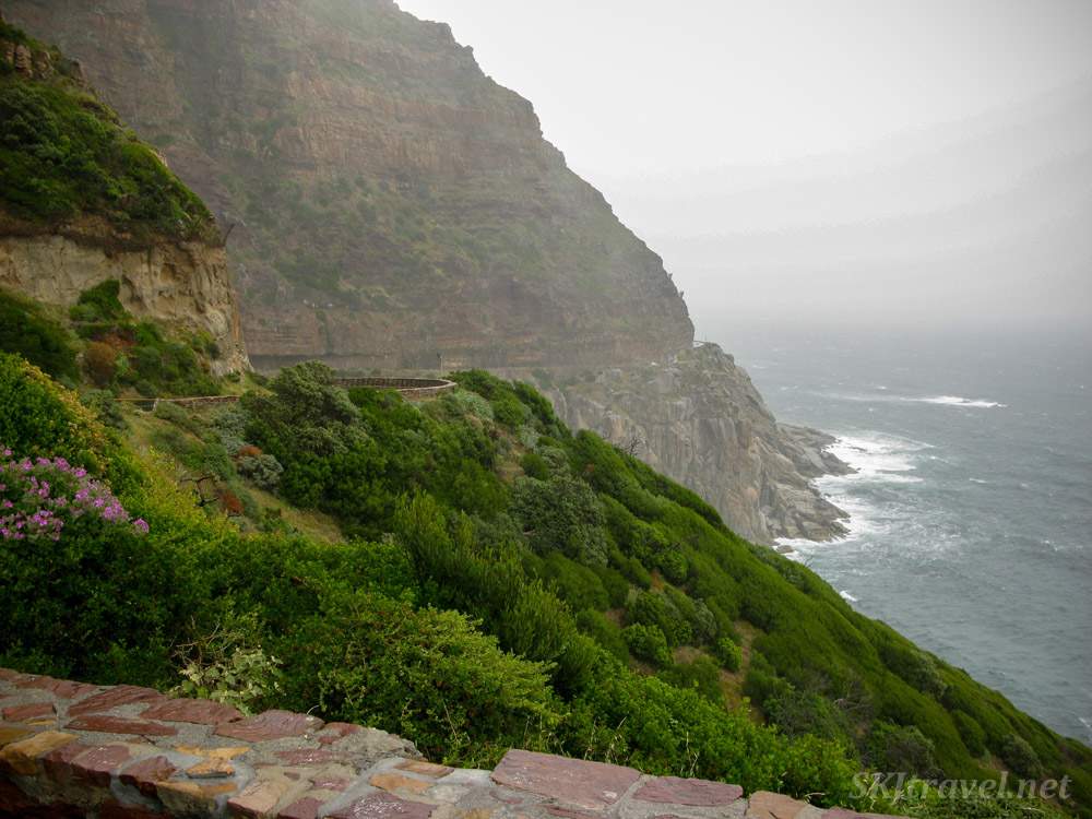 Driving the coastline near Cape Town, South Africa.
