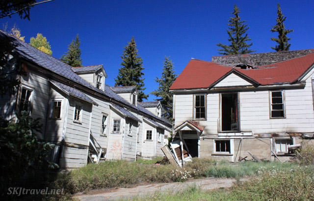 Abandoned houses in Gilman, Colorado.