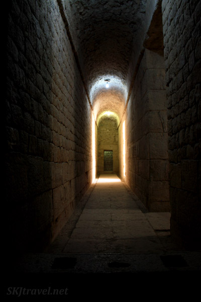 Corridor inside the temple in Bishapour. Iran.
