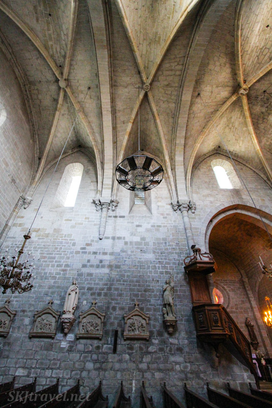 Inside the sanctuary of Abbey St. Hilaire, Languedoc region of France.