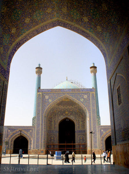 Courtyard of the Imam's Mosque, Isfahan, Iran.