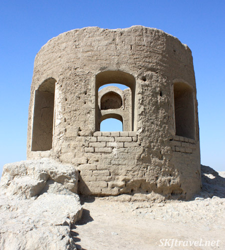 The ruins of Atashgah, or the Marbin fortress, atop a hill outside Isfahan, Iran.