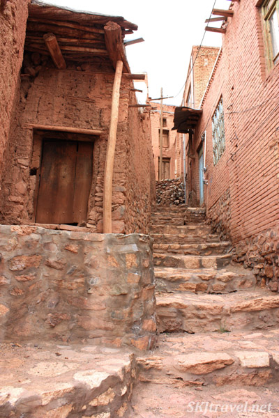 Abyaneh village, or the red village, Iran. Much of the village is left to the elements, slowly fading and falling apart.