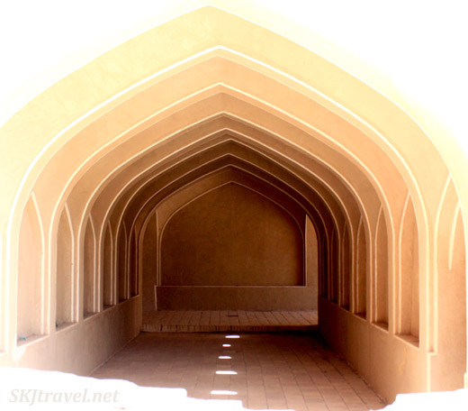 Restoried interior space in the ancient city, Rayen, Iran.