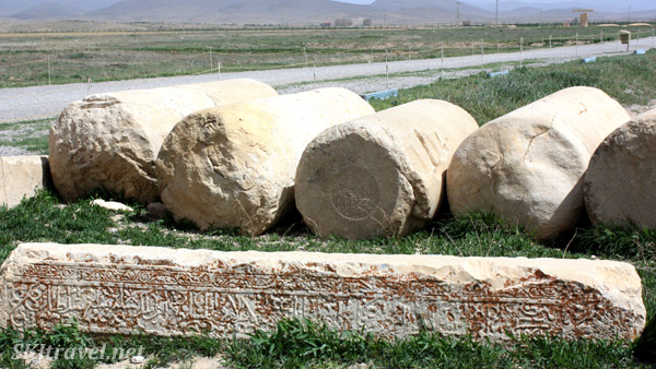 Little remains of the ruined city of Pasargadae. Iran.