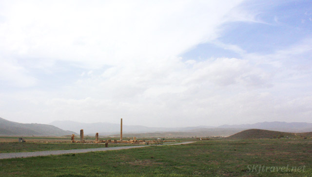 Ruins of Pasargadae on the windslept plains, Iran.