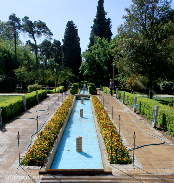 Gardens in Shiraz, Iran.