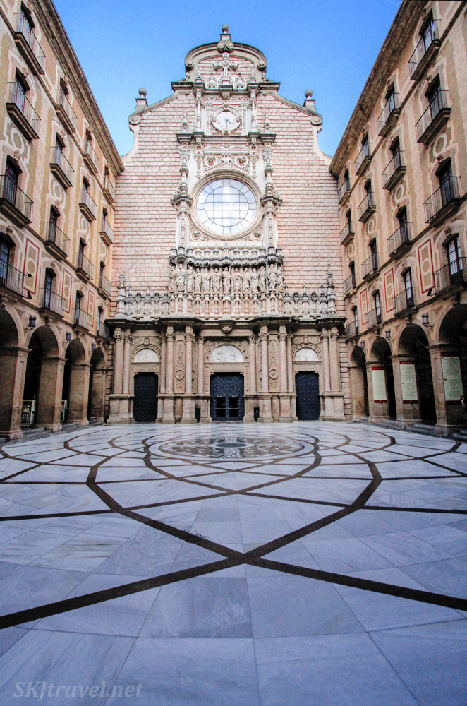 Inner courtyard of the monastery at Montserrat, Spain.