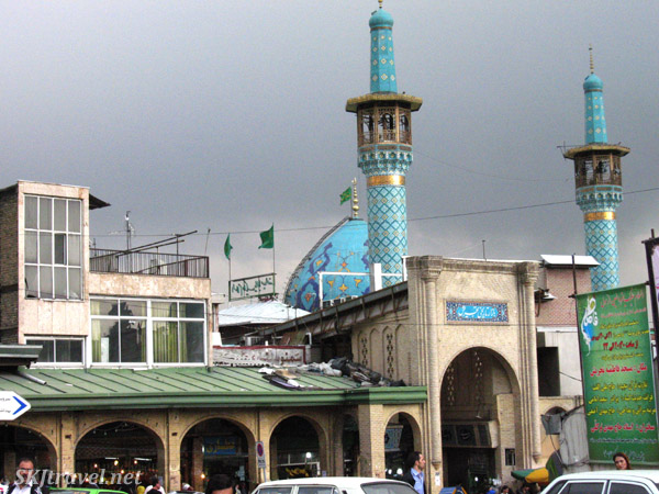 Entry into the biggest bazaar in Tehran, Iran.