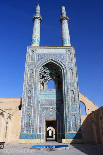 Main entrance of Friday Mosque in Yazd, Iran.