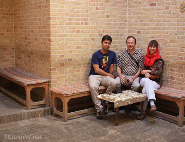 Cool room underground for resting in Yazd, Iran.