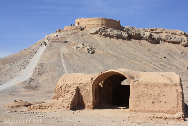 Zoroastrian Tower of Silence at Yazd, Iran.