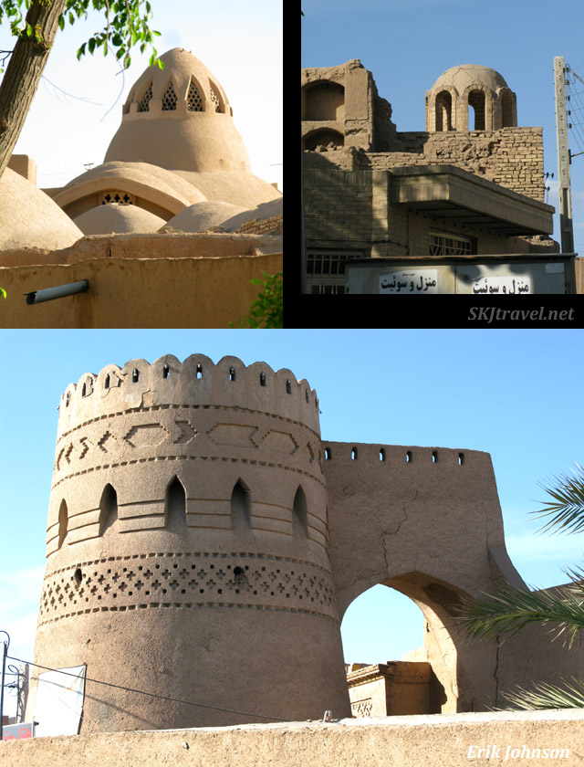 Ancient city walls and fortifications, Yazd, Iran.
