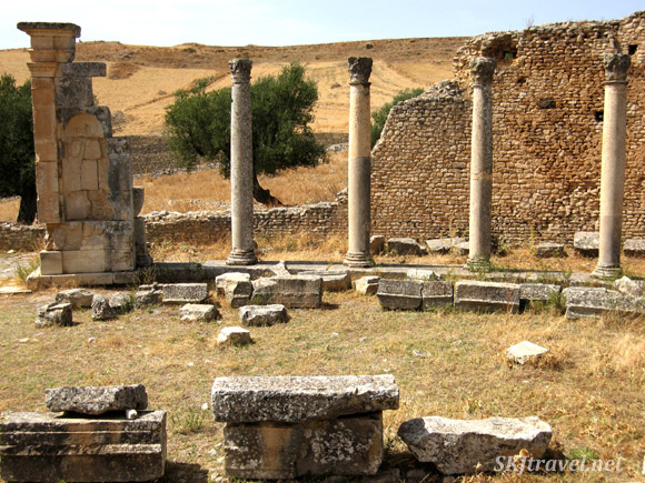 Ruins of ancient city of Dougga, Tunisia.