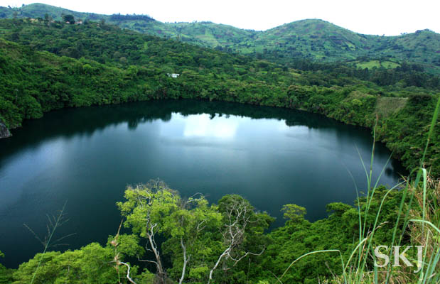 Crater lakes region of Fort Portal, Uganda.