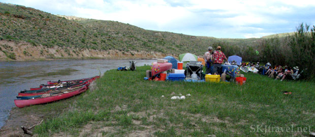 Campsite on the Yampa River, Colorado