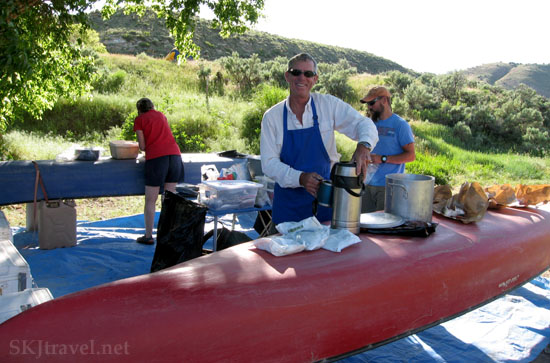 Cooking dinner on the Yampa River. Colorado