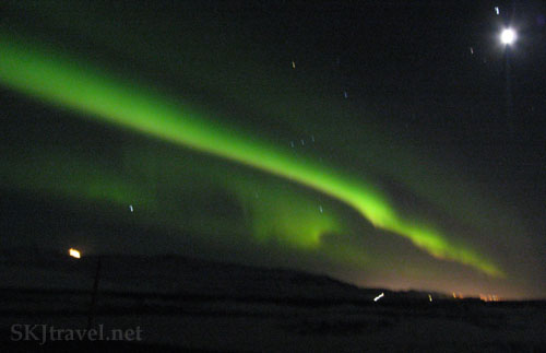 streak of northern lights