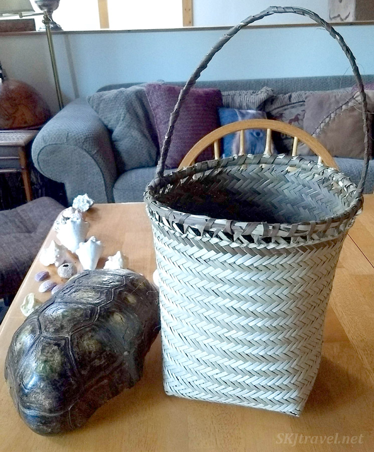 Guna naiwar basket custom made for my tortoise shell. Panama.