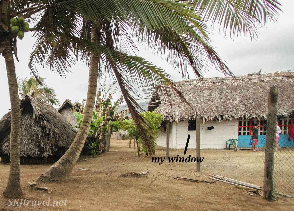 Artist residency house and my room, Armila, Guna Yala, Panama.