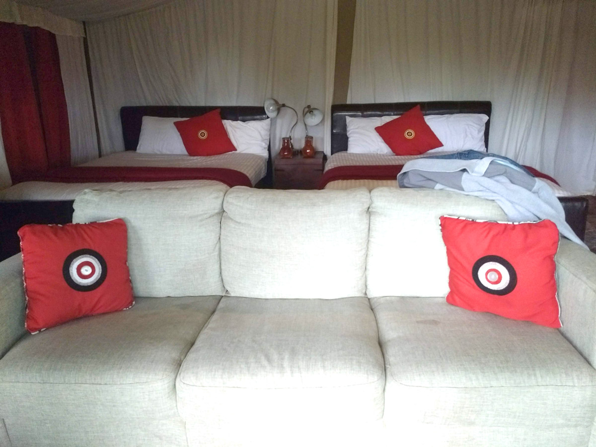 Lemala Ngorongoro Tented Camp, Tanzania. Our private tent.